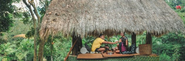 Komaneka at Bisma offered Picnic Lunch at Kubu Pan Seneng of Seneng Kitchen