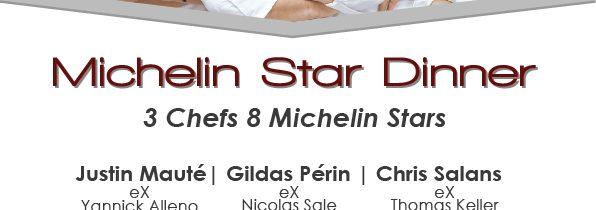 Michelin Star Dinner 3 Chefs. 8 Michelin Stars at Mozaic restaurant gastronomique, Ubud