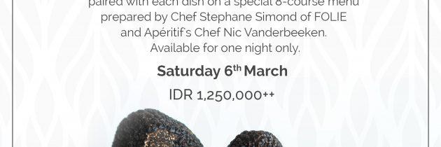 Relish Imported 'Fin de Saison' Black Winter Truffles at Apéritif's Truffle Dinner on 6 March